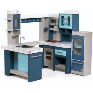 [HOT SELLER] Grand Walk-in Wooden Kitchen | Large Wood Play Kitchen & Toy Accessories Set | Wood Play Kitchen for Kids