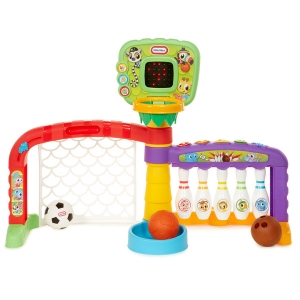 Little Tikes 643224P 3-in-1 Sports Zone Light Up Baby Toddler Toy with Sound