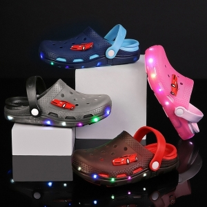 Children's Fashion Luminous Slippers Casual Sandals Comfortable Hole