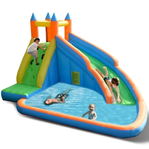 Costway Inflatable Water Slide Mighty Bounce House Castle Moonwalk Jumper Without Blower