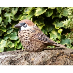 Single Tree Sparrow - Handmade in stoneware clay