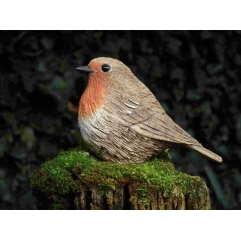 Single Robin - Handmade in stoneware clay