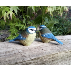 Single Blue tit - Handmade in stoneware clay