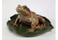 Frog on lillypad - Handmade in stonewa..